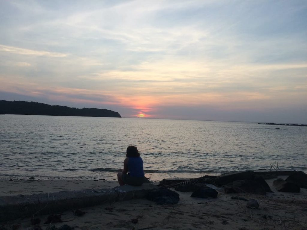 Zonsondergang Koh Kood Thailand