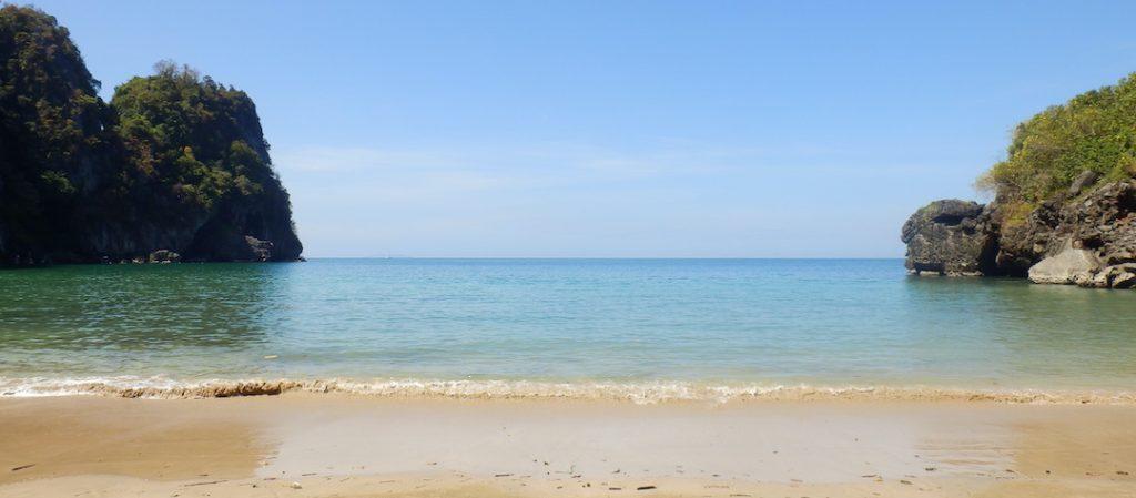 Uitzicht vanaf Sapphire beach