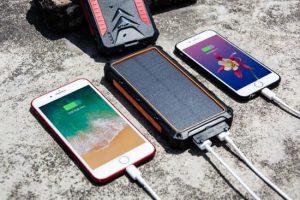 Powerbank met QI wireless charging en Solar panel